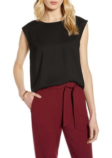 Halogen® Open Back Woven Top