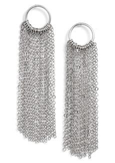 Halogen® Open Circle Fringe Drop Earrings