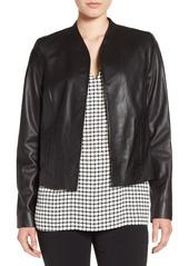 Halogen® Open Front Leather Jacket (Regular & Petite)