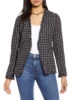 Halogen® Open Front Tweed Jacket (Regular & Petite)