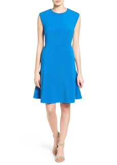Halogen® Ottoman Knit Fit & Flare Dress (Regular & Petite)