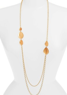Halogen® Painted Petal Draped Long Necklace