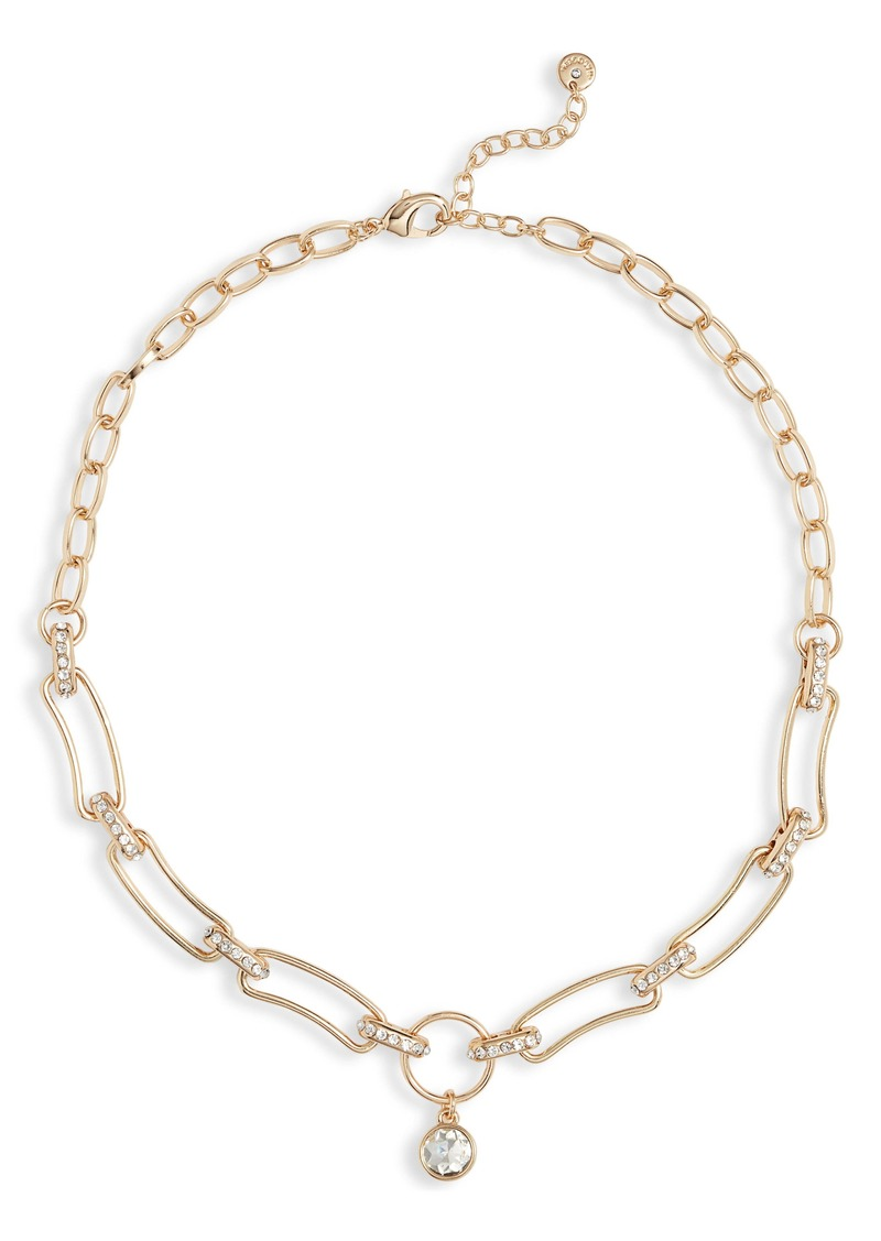 Halogen® Pavé Drop Collar Necklace