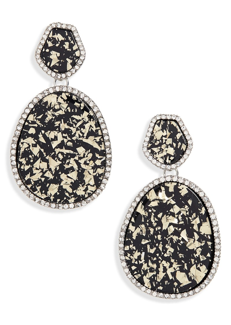 Halogen® Pave Edge Drop Earrings