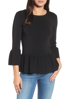 Halogen® Peplum Ruffle Sweater (Regular & Petite)