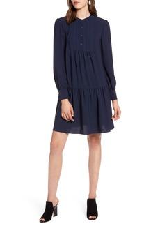 Halogen® Pintuck Detail Shift Dress (Regular & Petite)