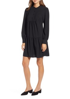 Halogen® Pintuck Detail Shift Dress (Regular & Petite)