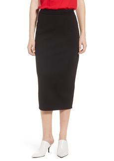 Halogen® Pique Ponte Skirt (Regular & Petite)