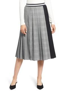 Halogen® Plaid A-Line Skirt (Regular & Petite)