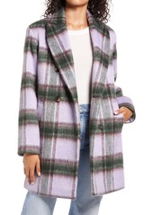 Halogen® Plaid Brushed Coat