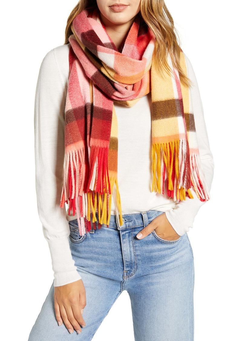 Halogen® Plaid Cashmere Blanket Scarf