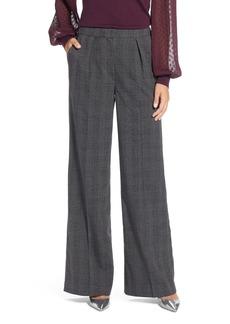 Halogen® Plaid High Waist Wide Leg Pants (Regular & Petite)