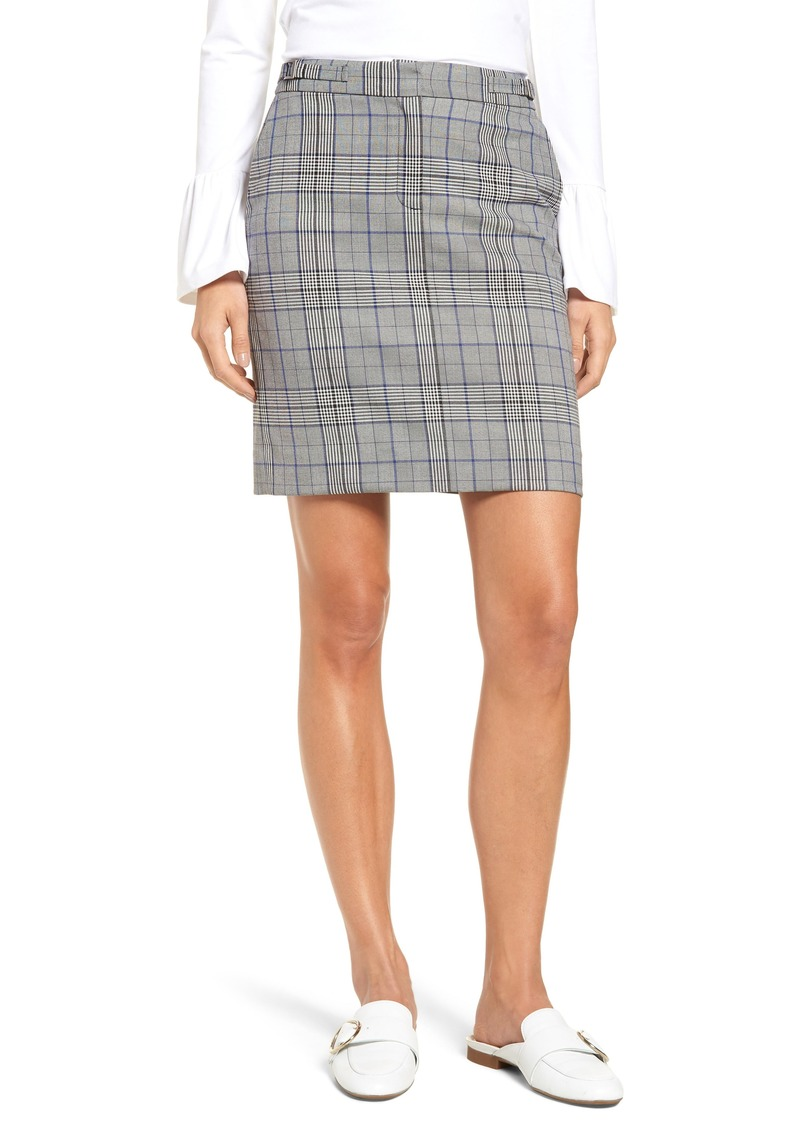 Halogen® Plaid Miniskirt (Regular & Petite)