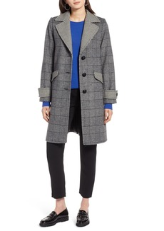 Halogen® Plaid Mix Wool Coat