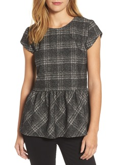 Halogen® Plaid Ruffle Top