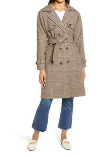 Halogen® Plaid Trench Coat