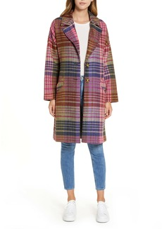 Halogen® Plaid Tweed Coat