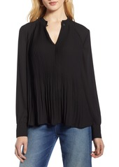 Halogen® Pleat Detail Blouse (Regular & Petite)
