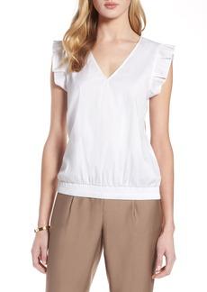 Halogen® Pleat Sleeve Blouse (Regular & Petite)