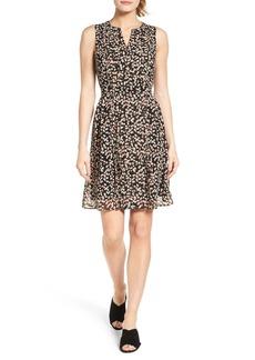 Halogen® Pleated Fit & Flare Dress (Regular & Petite)