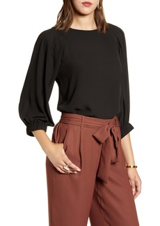 Halogen® Pleated Sleeve Blouse