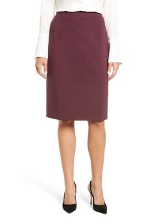 Halogen® Ponte Pencil Skirt (Regular & Petite)