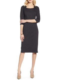 Halogen® Ponte Sheath Dress (Regular & Petite)