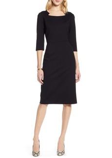 Halogen® Ponte Sheath Dress (Regular & Petite)