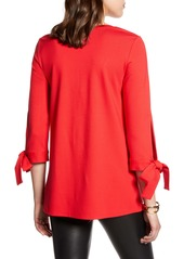Halogen® Ponte Tie Sleeve Tunic (Regular & Petite)