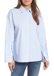 Halogen® Poplin Boyfriend Tunic (Regular & Petite)