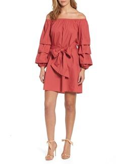 Halogen® Poplin Off the Shoulder Dress