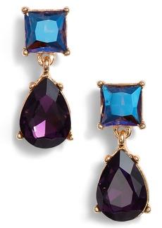 Halogen® Princess Double Drop Earrings