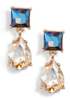 Halogen® Princess Double Drop Earrings