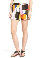 Halogen® Print Stretch Cotton Shorts (Regular & Petite)