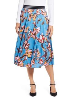 Halogen® Printed Pleated Skirt (Regular & Petite)