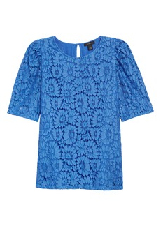 Halogen® Puff Sleeve Lace Top