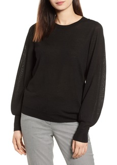 Halogen® Puff Sleeve Sweater (Regular & Petite)