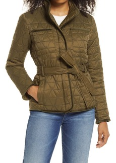 Halogen® Quilted Belted Nylon Coat