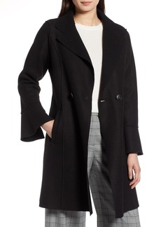 Halogen® Raw Edge Bell Sleeve Coat