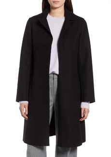 Halogen® Raw Edge Wool-Blend Clutch Coat