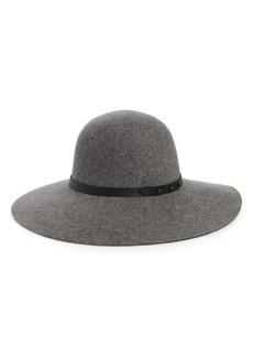 Halogen® Refined Wide Brim Wool Floppy Hat