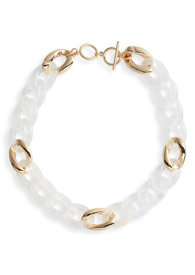 Halogen® Resin Chain Link Collar Necklace