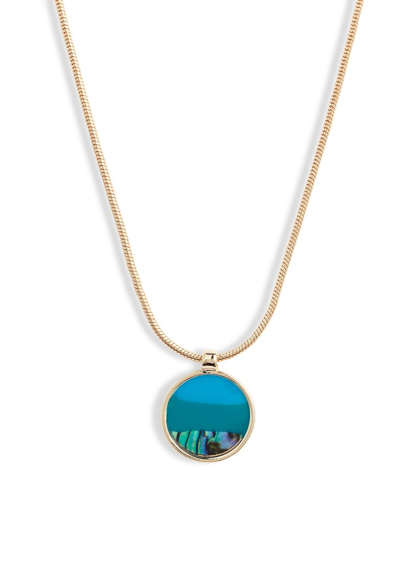 Halogen® Resin Medallion Pendant Necklace