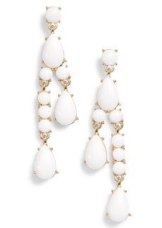 Halogen® Resin Stone Linear Earrings