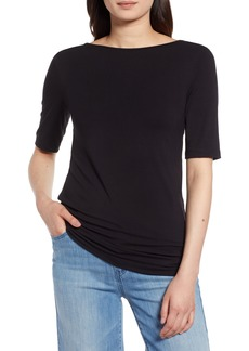 Halogen® Reversible Neck Tee (Regular & Petite)