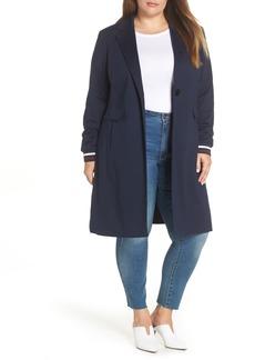 Halogen® Rib Trim Ponte Jacket (Plus Size)