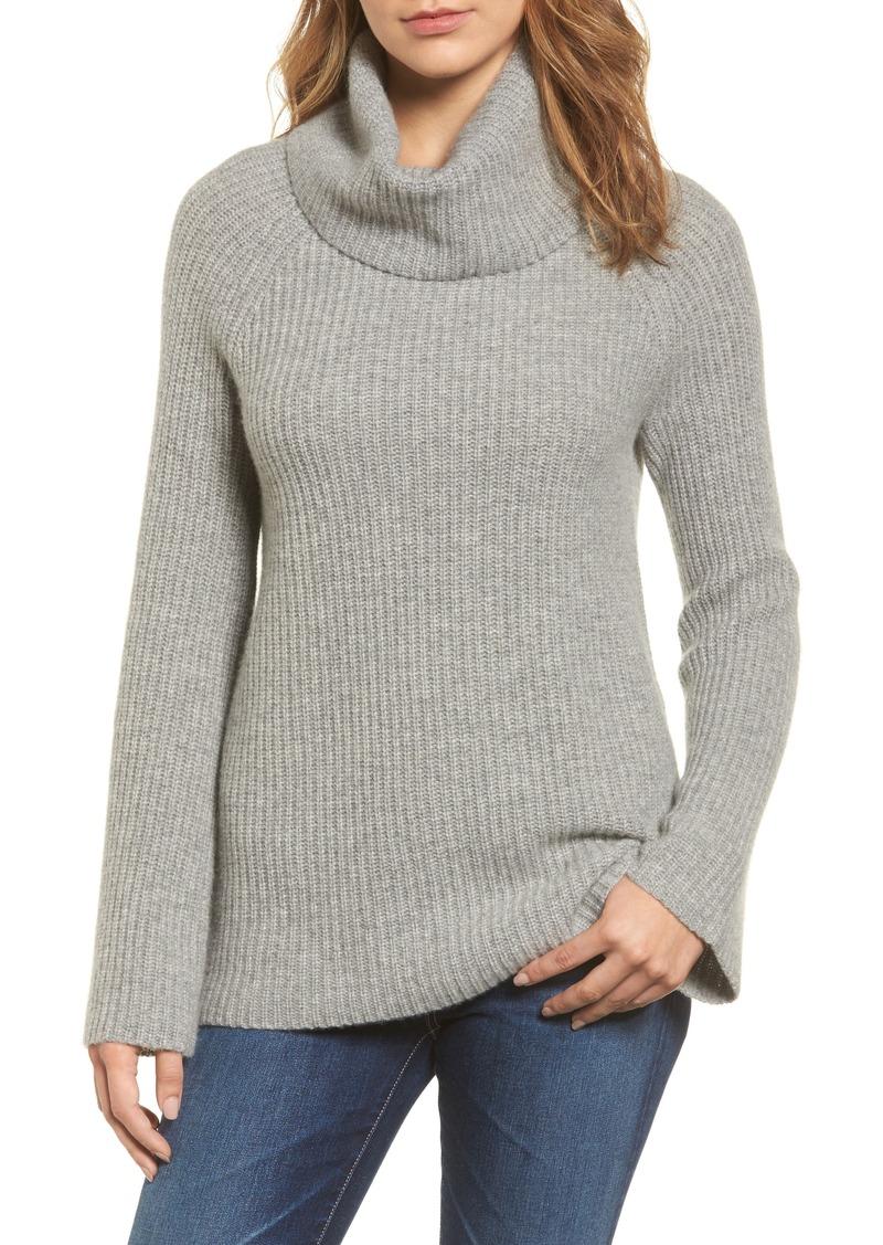 eacdf6764ab Halogen Halogen® Ribbed Cashmere Turtleneck Sweater (Regular ...