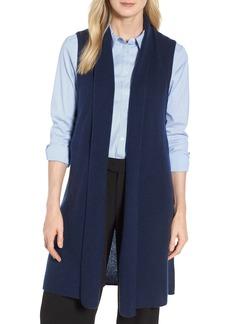 Halogen® Ribbed Cashmere Vest