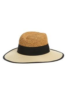 Halogen® Ribbon Accent Panama Hat