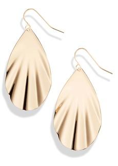Halogen® Rippled Teardrop Earrings